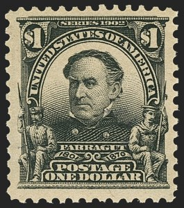 Sale Number 1150, Lot Number 955, 1902-08 Perforated Issues (Scott 300-313)$1.00 Black (311), $1.00 Black (311)