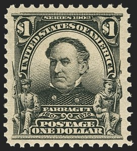 Sale Number 1150, Lot Number 956, 1902-08 Perforated Issues (Scott 300-313)$1.00 Black (311), $1.00 Black (311)