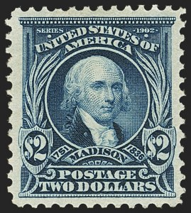 Sale Number 1150, Lot Number 958, 1902-08 Perforated Issues (Scott 300-313)$2.00 Dark Blue (312), $2.00 Dark Blue (312)