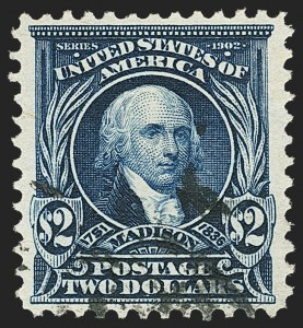 Sale Number 1150, Lot Number 960, 1902-08 Perforated Issues (Scott 300-313)$2.00 Dark Blue (312), $2.00 Dark Blue (312)