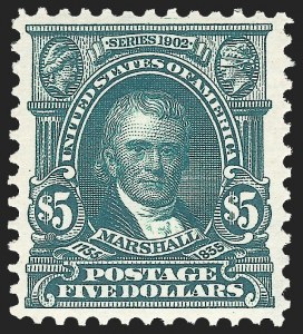 Sale Number 1150, Lot Number 961, 1902-08 Perforated Issues (Scott 300-313)$5.00 Dark Green (313), $5.00 Dark Green (313)