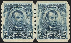 Sale Number 1150, Lot Number 970, 1902-08 Imperforate Issues incl. Scott 341A (Scott 314-315)5c Blue, U.S. Automatic Vending Co. Ty. III (315), 5c Blue, U.S. Automatic Vending Co. Ty. III (315)