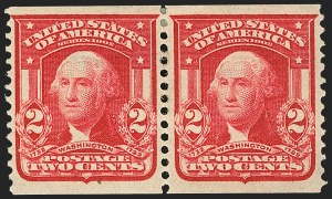 Sale Number 1150, Lot Number 978, 1908 First Government Coil Rarities (Scott 316-322)2c Carmine, Coil (322), 2c Carmine, Coil (322)