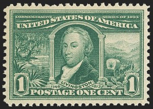 Sale Number 1150, Lot Number 983, 1904 Louisiana Purchase Issue (Scott 323-327)1c Louisiana Purchase (323), 1c Louisiana Purchase (323)