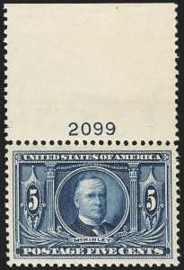 Sale Number 1150, Lot Number 986, 1904 Louisiana Purchase Issue (Scott 323-327)5c Louisiana Purchase (326), 5c Louisiana Purchase (326)