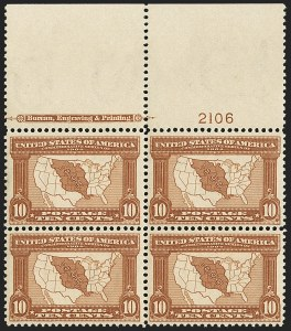 Sale Number 1150, Lot Number 991, 1904 Louisiana Purchase Issue (Scott 323-327)10c Louisiana Purchase (327), 10c Louisiana Purchase (327)