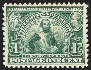 Sale Number 1150, Lot Number 993, 1907 Jamestown Issue (Scott 328-330)1c Jamestown (328), 1c Jamestown (328)