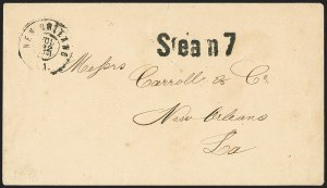 Sale Number 1151, Lot Number 1537A, Handstamped Paid and Due MarkingsSteam 7, Steam 7
