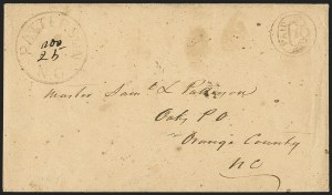 Sale Number 1151, Lot Number 1545, Handstamped Paid and Due MarkingsPatterson N.C, Patterson N.C