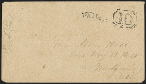 Sale Number 1151, Lot Number 1548, Handstamped Paid and Due MarkingsWindsor N.C, Windsor N.C