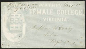 Sale Number 1151, Lot Number 1552, Handstamped Paid and Due MarkingsBlacksburg Va. July 21, 1862, Blacksburg Va. July 21, 1862