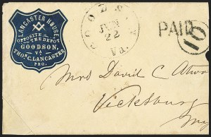 Sale Number 1151, Lot Number 1554, Handstamped Paid and Due MarkingsGoodson Va. Jun. 22, Goodson Va. Jun. 22