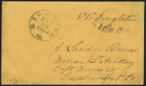 Sale Number 1151, Lot Number 1556, Handstamped Paid and Due MarkingsConfederate Congressional Mail, Confederate Congressional Mail