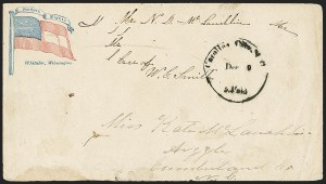 Sale Number 1151, Lot Number 1610, Confederate Patriotics: 7-Star thru 12-Star Flag DesignsCarolina City N.C. Paid Dec. 9 (1861), Carolina City N.C. Paid Dec. 9 (1861)