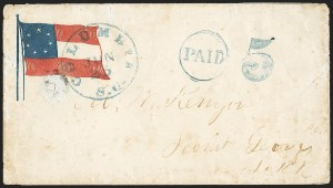 Sale Number 1151, Lot Number 1613, Confederate Patriotics: 7-Star thru 12-Star Flag DesignsColumbia S.C. Jun. 25 (1861), Columbia S.C. Jun. 25 (1861)
