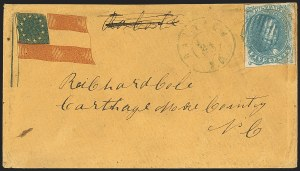 Sale Number 1151, Lot Number 1623, Confederate Patriotics: 7-Star thru 12-Star Flag Designs5c Blue, Stone 2 (4), 5c Blue, Stone 2 (4)