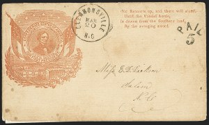 Sale Number 1151, Lot Number 1637, Confederate Patriotics: Davis, Beauregard, BreckinridgeClemmonsville N.C. Mar. 20, Clemmonsville N.C. Mar. 20