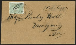 Sale Number 1151, Lot Number 1678, General Issues on Cover: Lithographs (Scott 3-5)2c Green (3), 2c Green (3)