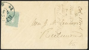 Sale Number 1151, Lot Number 1679, General Issues on Cover: Lithographs (Scott 3-5)2c Green (3), 2c Green (3)