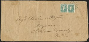 Sale Number 1151, Lot Number 1680, General Issues on Cover: Lithographs (Scott 3-5)2c Green (3), 2c Green (3)
