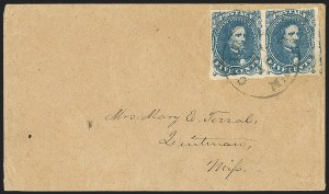 Sale Number 1151, Lot Number 1689, General Issues on Cover: Lithographs (Scott 3-5)5c Blue, Stones 2, 3 (4), 5c Blue, Stones 2, 3 (4)