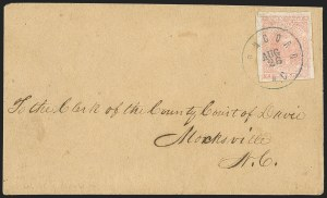 Sale Number 1151, Lot Number 1694, General Issues on Cover: Lithographs (Scott 3-5)10c Rose (5), 10c Rose (5)