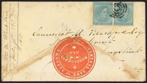 Sale Number 1151, Lot Number 1699, General Issues on Cover: Typographs (Scott 6-7)5c Light Blue, De La Rue (6), 5c Light Blue, De La Rue (6)