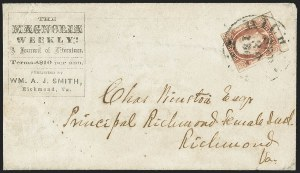 Sale Number 1151, Lot Number 1716, General Issues on Cover: Engraved (Scott 8-10)2c Brown Red (8), 2c Brown Red (8)
