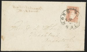 Sale Number 1151, Lot Number 1717, General Issues on Cover: Engraved (Scott 8-10)2c Brown Red (8), 2c Brown Red (8)