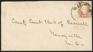 Sale Number 1151, Lot Number 1719, General Issues on Cover: Engraved (Scott 8-10)2c Brown Red (8), 2c Brown Red (8)