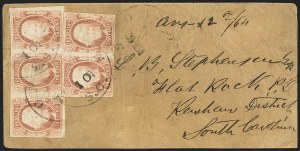 Sale Number 1151, Lot Number 1720, General Issues on Cover: Engraved (Scott 8-10)2c Brown Red (8), 2c Brown Red (8)