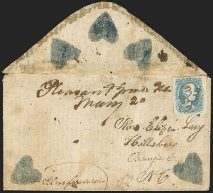 "Sale Number 1151, Lot Number 1724, General Issues on Cover: Engraved (Scott 8-10)10c Blue, ""TEN"" (9), 10c Blue, ""TEN"" (9)"