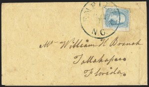 "Sale Number 1151, Lot Number 1727, General Issues on Cover: Engraved (Scott 8-10)10c Blue, ""TEN"" (9), 10c Blue, ""TEN"" (9)"