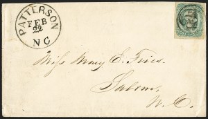 Sale Number 1151, Lot Number 1736, General Issues on Cover: Engraved (Scott 11-12)10c Greenish Blue, Die B (12c), 10c Greenish Blue, Die B (12c)