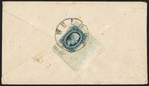 Sale Number 1151, Lot Number 1749, General Issues on Cover: Engraved (Scott 11-12)10c Blue, Die B (12), 10c Blue, Die B (12)