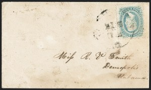 Sale Number 1151, Lot Number 1754, General Issues on Cover: Engraved (Scott 11-12)10c Blue, Die A, Perforated (11e), 10c Blue, Die A, Perforated (11e)