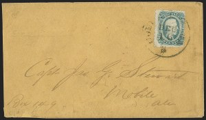 Sale Number 1151, Lot Number 1755, General Issues on Cover: Engraved (Scott 11-12)10c Blue, Die B, Perforated (12f), 10c Blue, Die B, Perforated (12f)