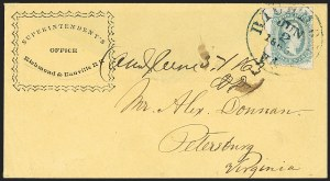 Sale Number 1151, Lot Number 1822, Railroads and Telegraphs10c Milky Blue, Die A (11a), 10c Milky Blue, Die A (11a)