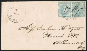 Sale Number 1151, Lot Number 1825, Railroads and Telegraphs5c Light Blue, De La Rue (6), 5c Light Blue, De La Rue (6)