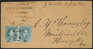 Sale Number 1151, Lot Number 1826, Railroads and TelegraphsVirginia & Tennessee Railroad, Virginia & Tennessee Railroad
