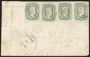 Sale Number 1151, Lot Number 1833, Trans-Mississippi Express, Southern Express, Mexico10c Greenish Blue (11c), 10c Greenish Blue (11c)