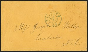 Sale Number 1151, Lot Number 1854, Confederate Group LotsConfederate States Stampless Covers, Confederate States Stampless Covers