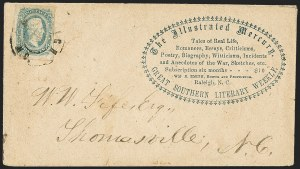 Sale Number 1151, Lot Number 1863, Confederate Group LotsNorth Carolina Advertising and Corner Card Covers, Balance, North Carolina Advertising and Corner Card Covers, Balance