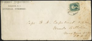 Sale Number 1151, Lot Number 1867, Confederate Group LotsRaleigh N.C. Semi-Official State Imprint Covers, Raleigh N.C. Semi-Official State Imprint Covers