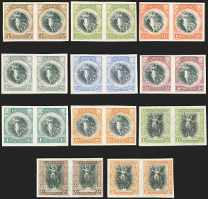 Sale Number 1152, Lot Number 264, Bahamas thru BarbadosBARBADOS, 1920, -1/4p-3sh Victory Issue, Imperforate Plate Proofs (140P-150P; SG 201P-211P), BARBADOS, 1920, -1/4p-3sh Victory Issue, Imperforate Plate Proofs (140P-150P; SG 201P-211P)