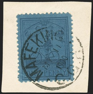 Sale Number 1152, Lot Number 430, Cape of Good Hope thru Cayman IslandsCAPE OF GOOD HOPE, Mafeking, 1900, 1p Blue on Blue Laid, Major Goodyear (178; SG 18), CAPE OF GOOD HOPE, Mafeking, 1900, 1p Blue on Blue Laid, Major Goodyear (178; SG 18)