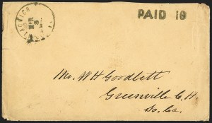 Sale Number 1153, Lot Number 2027, Florida Town Postmarks with Paid and Due Markings, Adamsville thru Mt. PleasantApalachicola Fla. Mar. 3 (1862), Apalachicola Fla. Mar. 3 (1862)