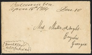 "Sale Number 1153, Lot Number 2028, Florida Town Postmarks with Paid and Due Markings, Adamsville thru Mt. Pleasant""Baldwin Fla. April 16th 1864"", ""Baldwin Fla. April 16th 1864"""