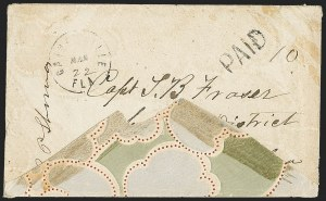 Sale Number 1153, Lot Number 2038, Florida Town Postmarks with Paid and Due Markings, Adamsville thru Mt. PleasantGainesville Fla. Mar. 22, Gainesville Fla. Mar. 22
