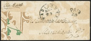 Sale Number 1153, Lot Number 2046, Florida Town Postmarks with Paid and Due Markings, Adamsville thru Mt. PleasantMadison C.H. Fla. Nov. 29, Madison C.H. Fla. Nov. 29